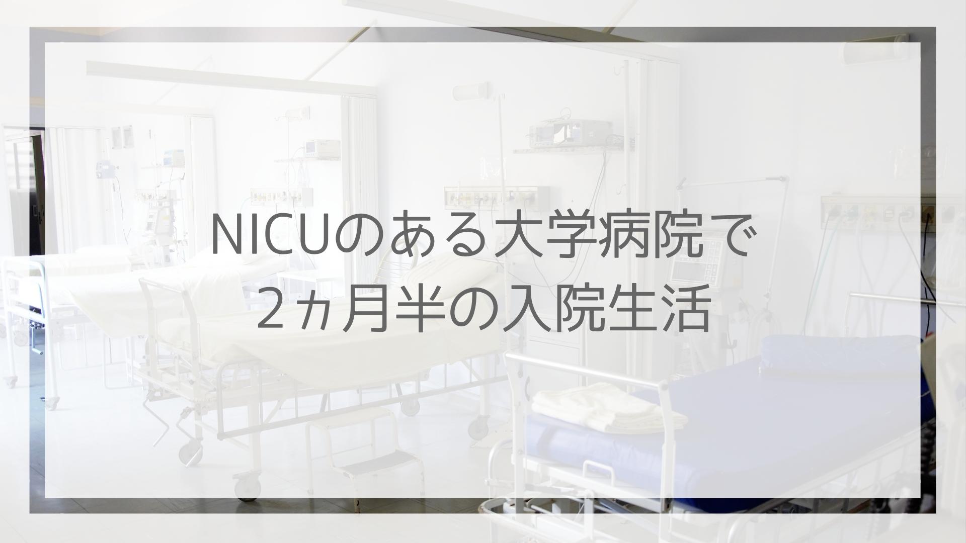 NICUのある大学病院で 2ヵ月半の入院生活