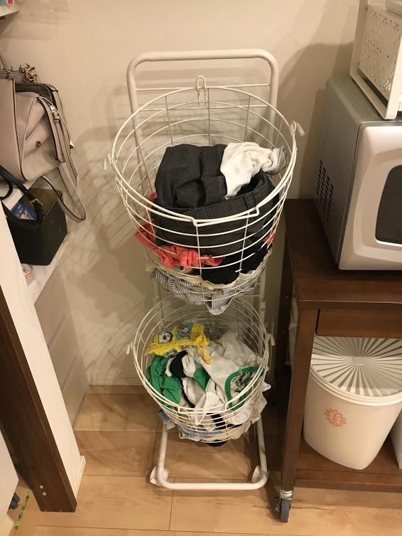 新 洗濯待ちバスケット